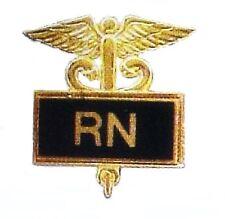 RN Registered Nurse Pin Medical Insignia Black Inlaid Caduceus Pins 3501B New