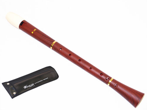 Pro Wood Grain /& Ivory White Alto Recorder-Baroque Fingering New Style
