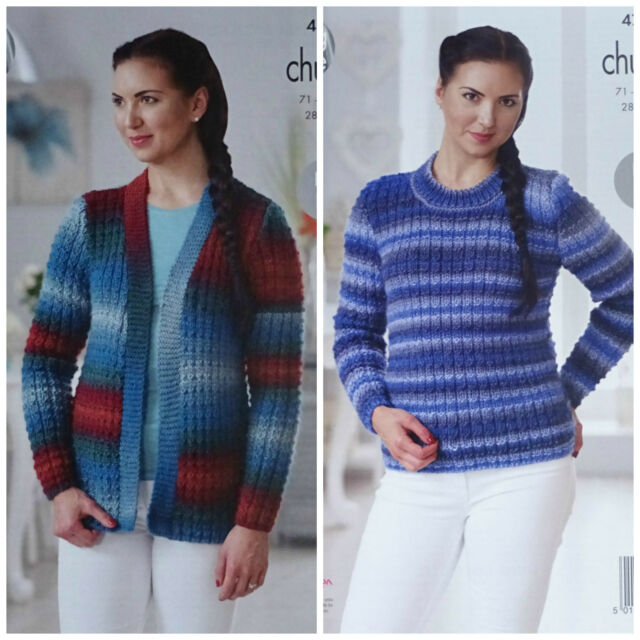 King Cole Ladies Riot Chunky Knitting Pattern Easy Knit Cardigan
