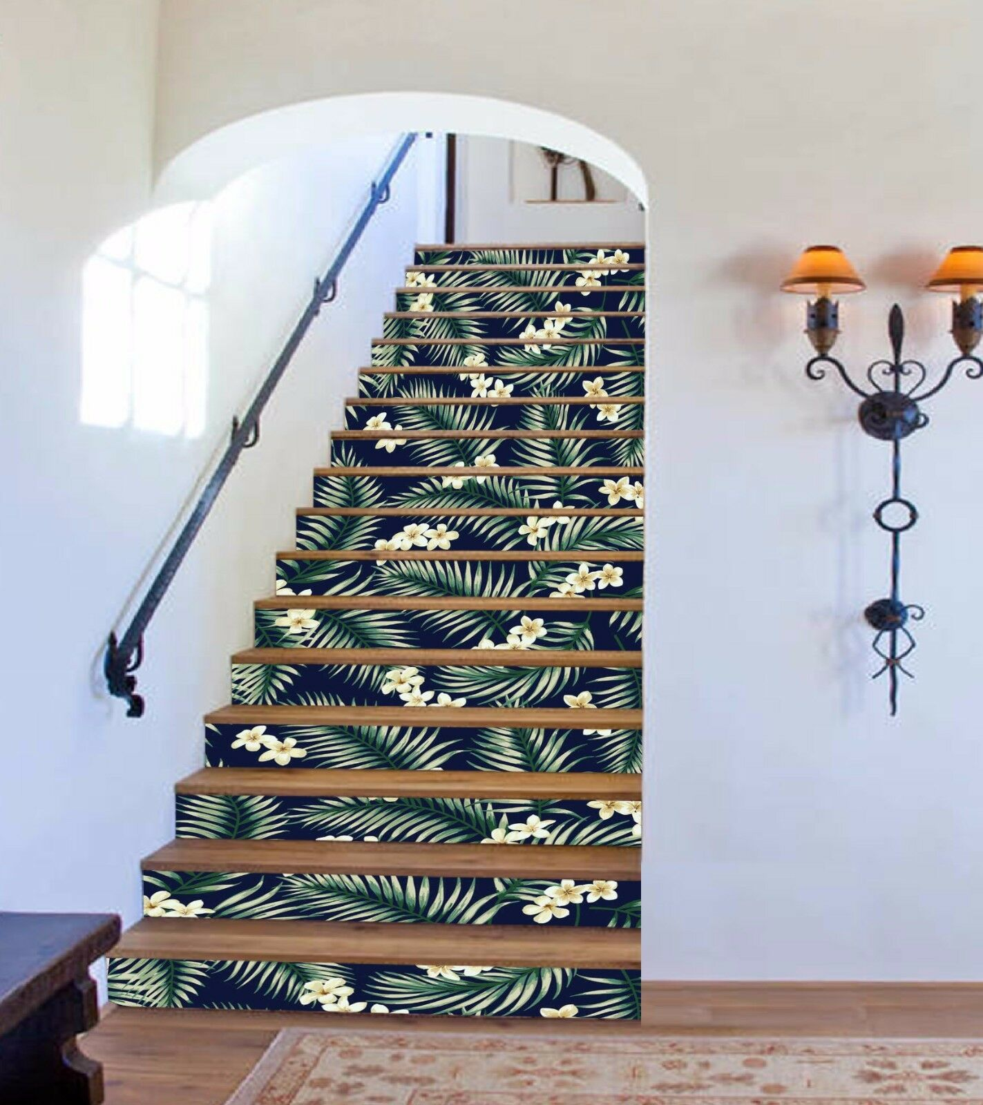 3D Flower Leaf 775 Stair Risers Decoration Photo Mural Vinyl Decal Wallpaper AU