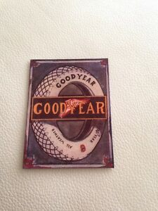 Goodyear Tyres Retro Fridge Magnet - <span itemprop='availableAtOrFrom'>Stowlangtoft, Suffolk, United Kingdom</span> - Goodyear Tyres Retro Fridge Magnet - Stowlangtoft, Suffolk, United Kingdom