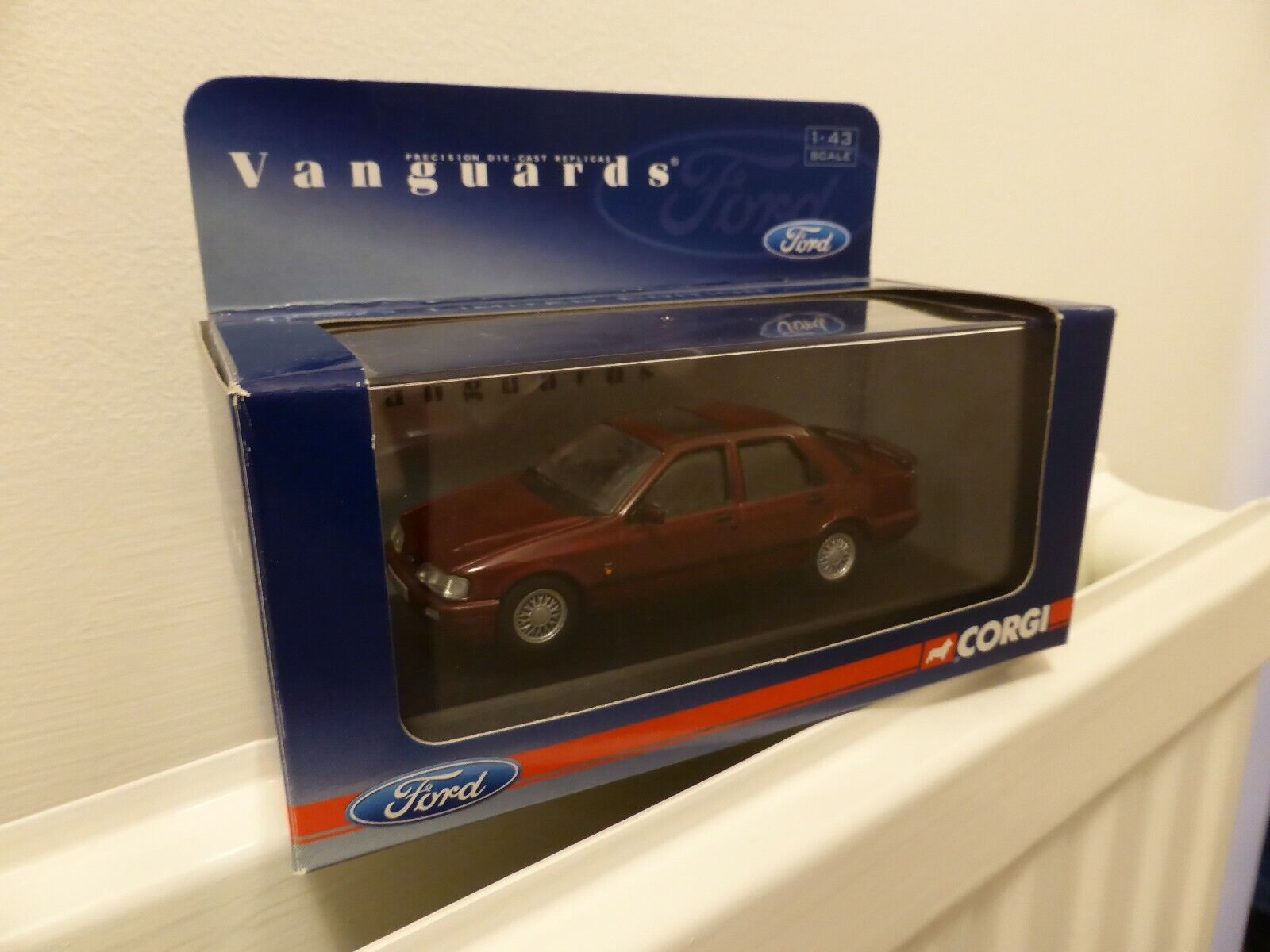 Vanguards Ford Sierra Sapphire RS Cosworth Nouveau Red 1 43 MIB Ltd Ed VA10000