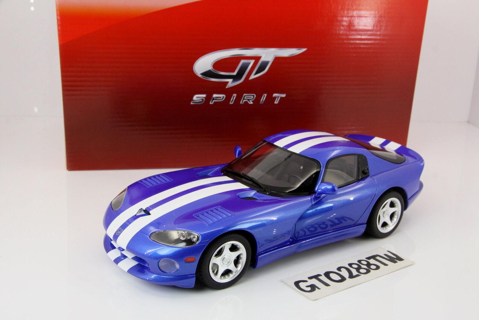 GT anda 1 18 skala Dodge Viper GTS Coupe 1996 - blå (LE.9999pcs) GT136