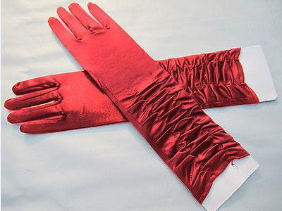 Gehorsam Braut Hochzeit Edle Handschuhe In Rot Neu Guter Geschmack