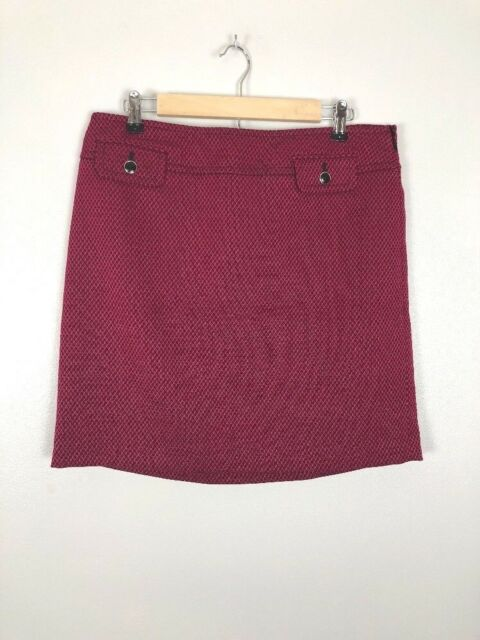 Loft Womens Skirt Size 2 Swing Red Knit Skirts
