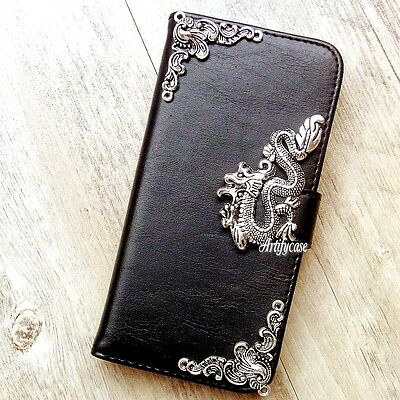 Dragon phone wallet Leather flip case Stand Card cover For LG G5 K7 V20 Stylus 2