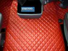 ECO LEATHER FLOOR MATS SET-RED FIT SCANIA R  AUTOMATIC 2005-2009
