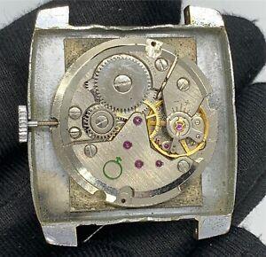 Cristal-Montre-82-Ts-Main-Manuel-Vintage-31-7-mm-Pas-Fonctionne-pour-Pieces