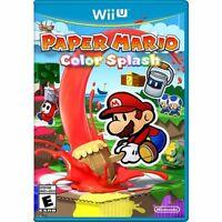 Nintendo Wii U Paper Mario Color Splash Sealed For N&s America Consoles Usa