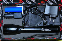 Led 9 Rechargeable Flash Light Ac/dc Charger. Chicago Pneumatic 8940170144