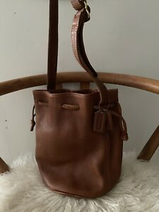 Vintage Green /& Tan Soft Suede Paneled BoHo Bucket Bag with Tassels