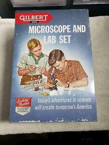 Vintage-Gilbert-13042-microscope-and-lab-set-with-metal-box