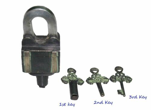 Brass 5057 Lock with Key ANTIQUE Style MASTER Padlock HARD TO OPEN