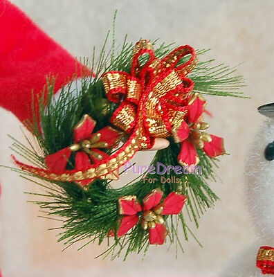 1:12 Dollhouse Miniature Christmas Wreath  Garland Christmas Ornaments OP027
