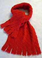Red Scarf Pile Fleece Fabric 70 Long 12 Wide