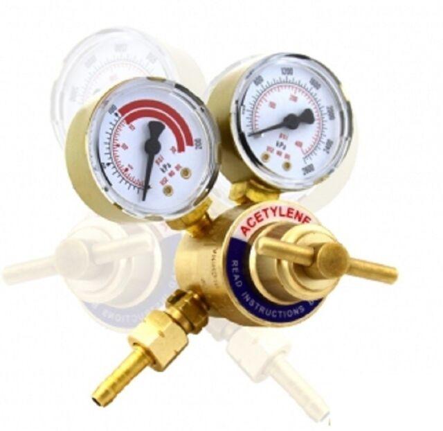 Rear Mount Acetylene Gas Welding Welder Brass Regulator Pressure Gauge Victor For Sale Online