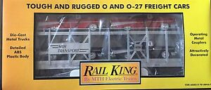 MTH-30-7656-RAIL-KING-MTH-AUTO-TRANSPORT-AUTO-CARRIER-W-ERTL-57-CHEVYS