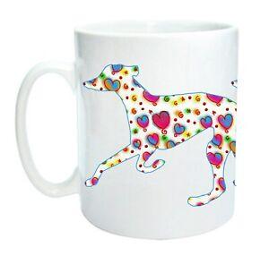 Greyhound Mug Trotting Hounds Cool Modern Heart Design Birthday Mothers Day Gift