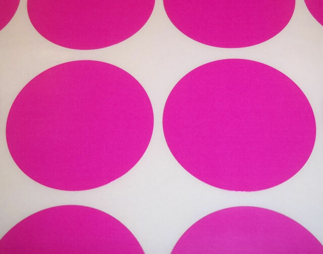 500 Dark Pink 20mm 3/4 Inch Colour Code Dots Round Stickers Sticky ID Labels