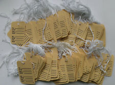 150 Buff Colored Perforated Prestrung 1 14 X 1 78 Price Tags