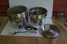 Server Commercial 11 Qt Food Warmer Mdl Fs 11 With 1954 Us Army Soup Ladle