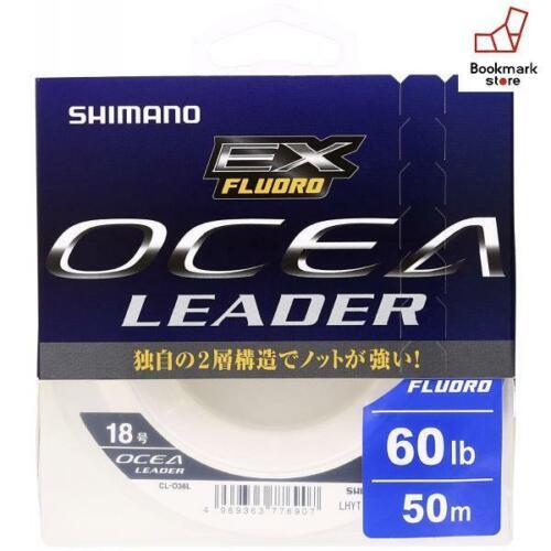 New Shimano shock leader Ocea EX fluorocarbon 50m #18 60lb clear CL-O36L F//S