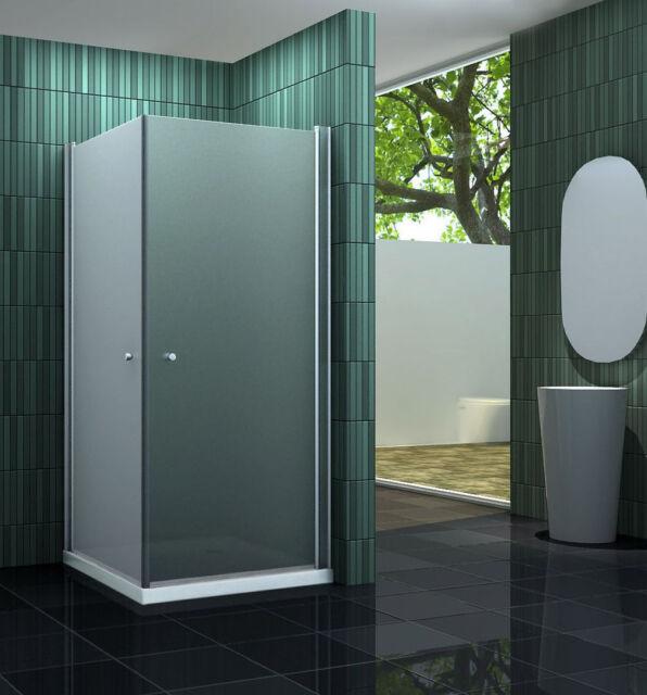 BANHO-F 90 x 90 cm Glas Duschkabine Eckeinstieg Dusche Duschwand Duschabtrennung