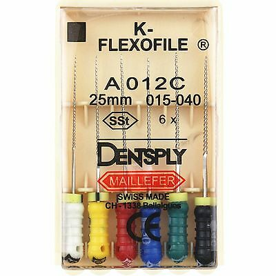 20 Packs Dentsply K-FLEXOFILE Highly Flexible 25mm 015-040 Endo Root Canal Files