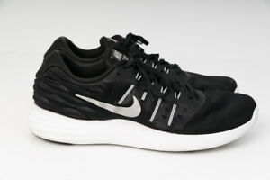 Details about Nike Lunar Stelos Black Metallic Silver Running Shoes 844591 001 Size US 11 Mens