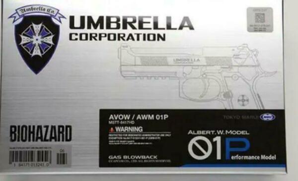 AIR SOFT GUN Biohazard Albert W Model 01 Toy Hand Gun Tactical 18years JP F//S