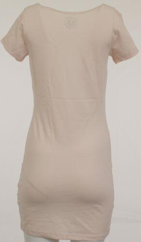 AJC Shirtkleid Minikleid Mini Kleid Stretch Longshirt Shirt Tunika Rosa 166470