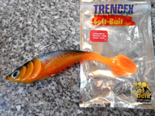 Caoutchouc Poisson SHAD BEHR Trendex 105 G Soft Bait 20 cm Poisson Carnassier Brochet Zander Killer 2