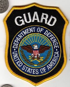 image is loading guard patch dod police department of defense united