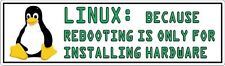 "Geek - Linux Rebooting Tux Sticker - 2.5"" x 8.5"""
