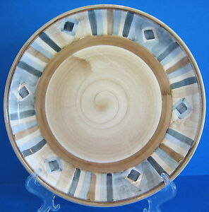 Image is loading Dinner-Plate-Monterrey-Libbey-Tableware -China-Gray-Diamonds- & Dinner Plate Monterrey Libbey Tableware China Gray Diamonds Brown ...