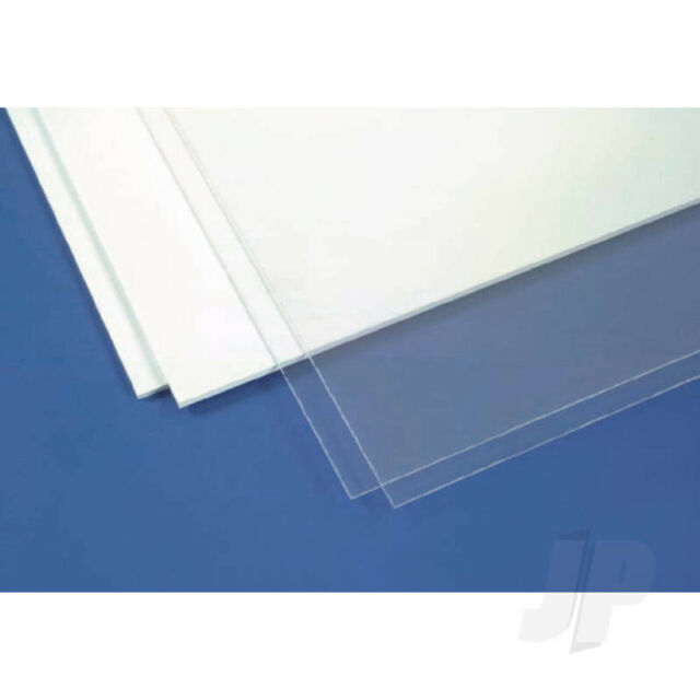 Evergreen 6x12in (15x30cm) White Plastic Sheet .080in (2.032mm) Thick (1 pack)