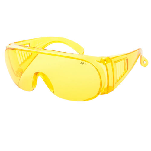 Extra Large Fit COVER Over Most Rx Glasses Sunglasses Safety Night Yellow Lens