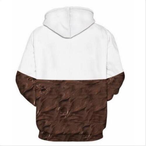 Woman Winter hoodies Nutella chocolate Printed Pullover Pocket hoodies S-3XL