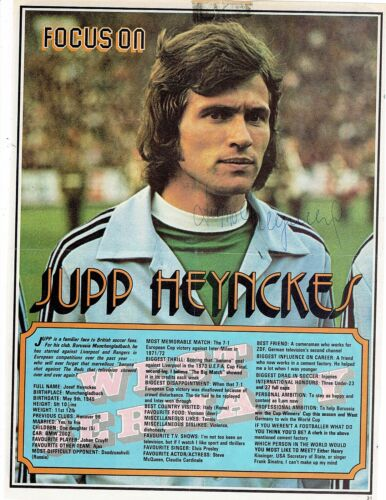 Original, nicht zertifiziert Original Autogramm Jupp Heynckes Borussia Mönchengladbach 20,5 x 28cm