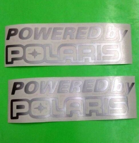 2X POWERED BY POLARIS  sticker vinyl decal for car and others