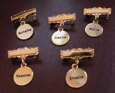 ♚REPLACEMENT BRASS NAME PINS FOR COMPOSITION MADAME ALEXANDER DIONNE QUINT DOLLS