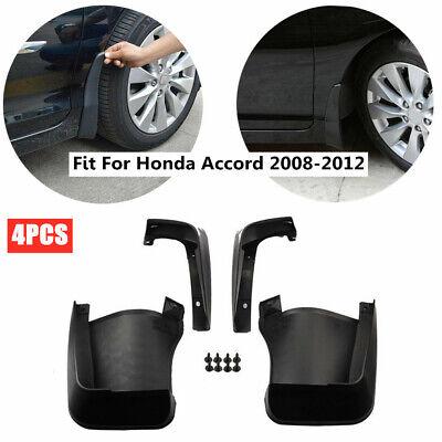 4pcs Durable Mud Fender Splash Guards Flaps Black Kit For Honda Accord 2003-2007