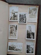 "Vintage scrapbook photo album wood barn door black white photos 12 x 16 "" early"