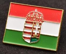 Hungarian Flag Coat of Arms Hungary Metal Lapel Pin Tie Tack Soccer Football
