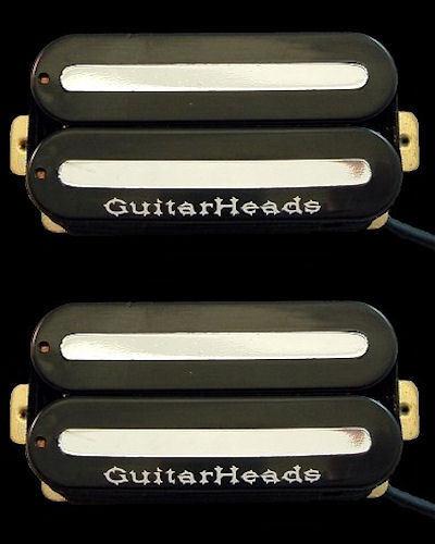 Guitar Parts GUITARHEADS Pastillas MEGAMETAL Humbucker Puente Puente Puente Cuello Set 2-Negro  venta al por mayor barato