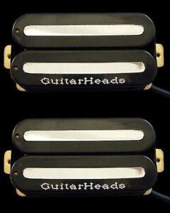 à Condition De Guitar Parts Guitarheads Micros Megametal Humbucker Pont-cou Set 2-noir-afficher Le Titre D'origine Finement Traité