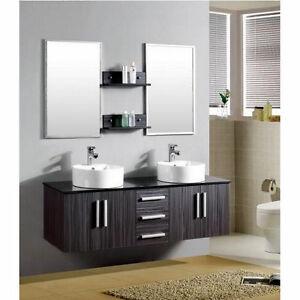 Mobile bagno wenge 39 mobili doppio lavabo appoggio per for Mobile bagno moderno ebay