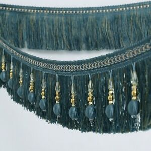 1M-Curtain-Tassel-Sewing-Fringe-Beaded-Trimming-Home-Crafts-Garment-Upholstery