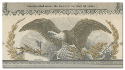 Texas Fort Worth Rendering Company Stock Certificate