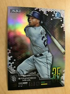FRANCISCO MEJIA 2019 BOWMAN CHROME TOP 100 REFRACTOR ROOKIE RC PADRES ESE 0.99